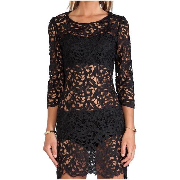 Assali Dresses Chloe Black Lace Dress Poshmark